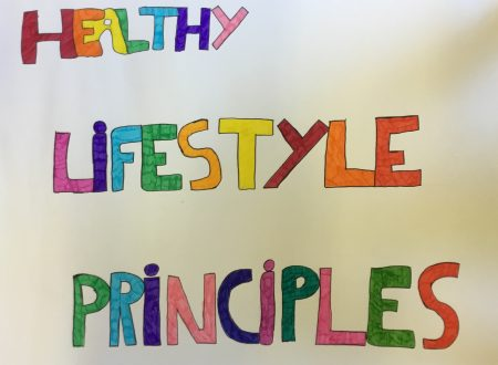 Poster about healthy lifestyle principles