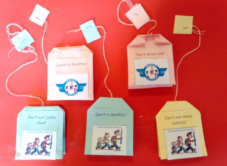 """Tea bags made by the """"Campi"""" school in Cremona"""