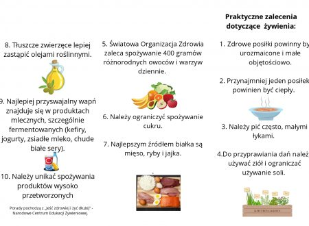 Polish students made a leaflet on healthy diet